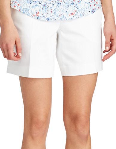 Chaps Stretch Cotton Shorts-WHITE-14 89221151_WHITE_14