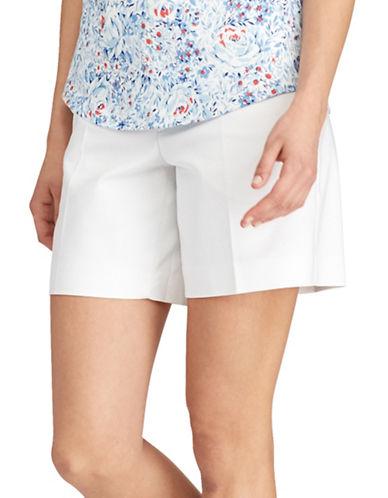 Chaps Petite Stretch Cotton Shorts-WHITE-Petite 12