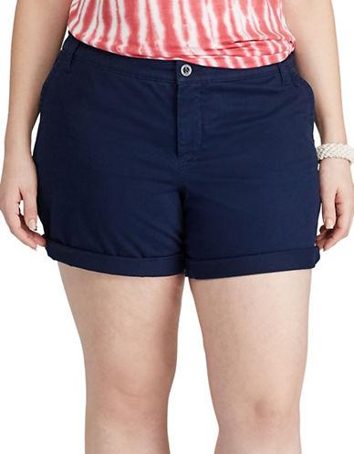 Chaps Plus Stretch Twill Shorts-BLUE-18W 89181490_BLUE_18W