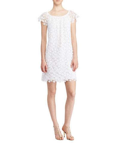 Lauren Ralph Lauren Lace Off-the-Shoulder Shift Dress-WHITE-18