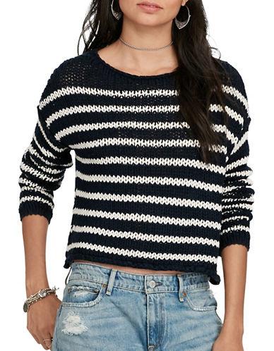 Denim & Supply Ralph Lauren Striped Cotton Sweater-BLUE-Medium