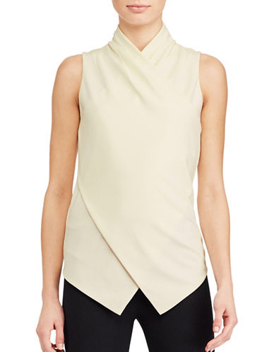 Lauren Ralph Lauren Jersey Surplice Top-WHITE-Medium 89063163_WHITE_Medium