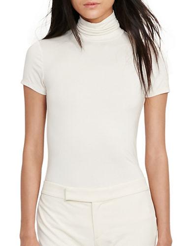 Lauren Ralph Lauren Jersey Short-Sleeve Turtleneck-WHITE-X-Large 88933205_WHITE_X-Large
