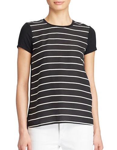 Lauren Ralph Lauren Crepe-Front Jersey Tee-BLACK-Medium 88933223_BLACK_Medium