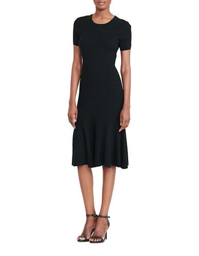 Lauren Ralph Lauren Rib-Knit Sweater Dress-BLACK-Medium 88933268_BLACK_Medium