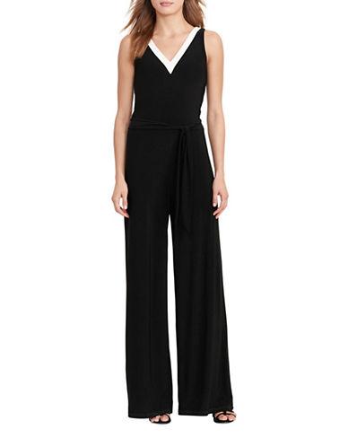 Lauren Ralph Lauren Jersey Wide-Leg Jumpsuit-BLACK-X-Small 88933405_BLACK_X-Small