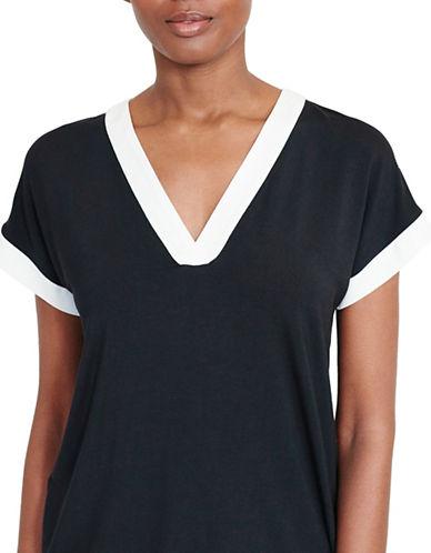 Lauren Ralph Lauren Colourblocked Jersey Top-BLACK-Medium 88933422_BLACK_Medium