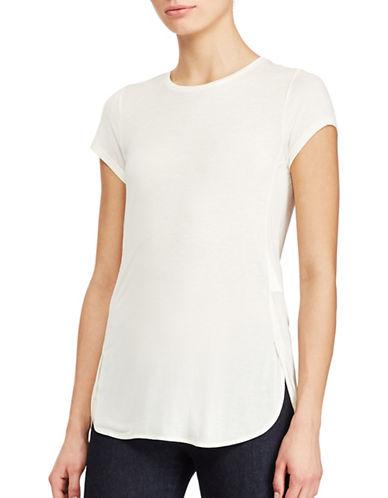 Lauren Ralph Lauren Jersey Crewneck Tee-WHITE-X-Large 89063383_WHITE_X-Large