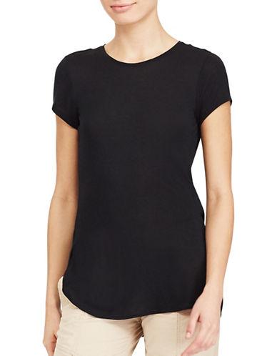 Lauren Ralph Lauren Jersey Crewneck Tee-BLACK-Small 89063387_BLACK_Small