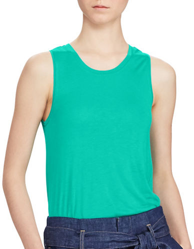 Lauren Ralph Lauren Shakki Knit Tank-BLUE-Small 89133961_BLUE_Small