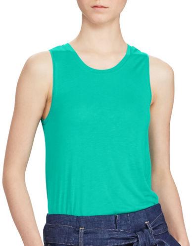 Lauren Ralph Lauren Shakki Knit Tank-BLUE-Large 89133959_BLUE_Large