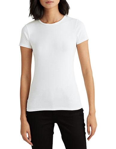 Lauren Ralph Lauren Short-Sleeve Crew Neck Tee-WHITE-Large 90089347_WHITE_Large