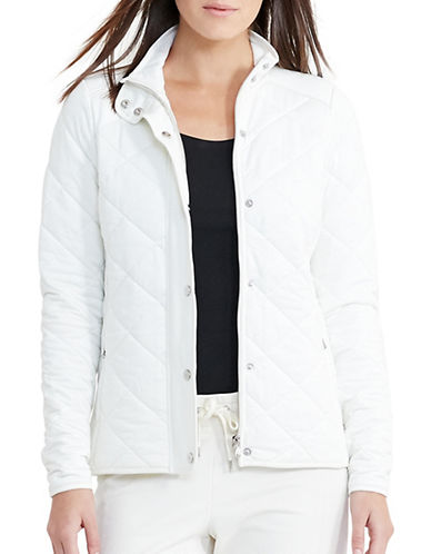Lauren Ralph Lauren Jersey Quilted Barn Jacket-WHITE-Small 88933593_WHITE_Small