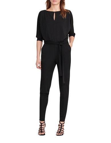 Lauren Ralph Lauren Jersey Keyhole Jumpsuit-BLACK-Medium