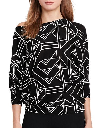 Lauren Ralph Lauren Geometric-Print Sweater-BLACK-X-Small 88933605_BLACK_X-Small