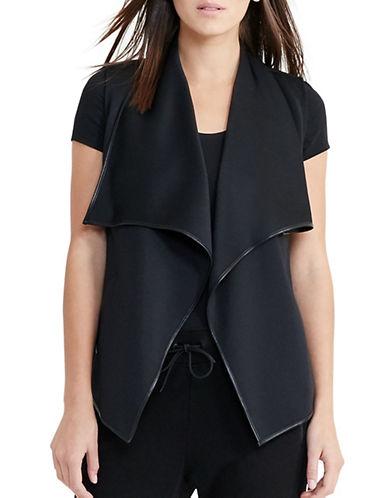 Lauren Ralph Lauren Neoprene Open-Front Vest-BLACK-X-Small 88933615_BLACK_X-Small