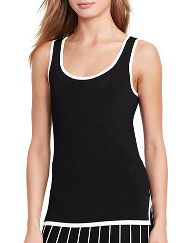 Lauren Ralph Lauren Petite Sleeveless Sweater-BLACK-Petite Small 88935391_BLACK_Petite Small