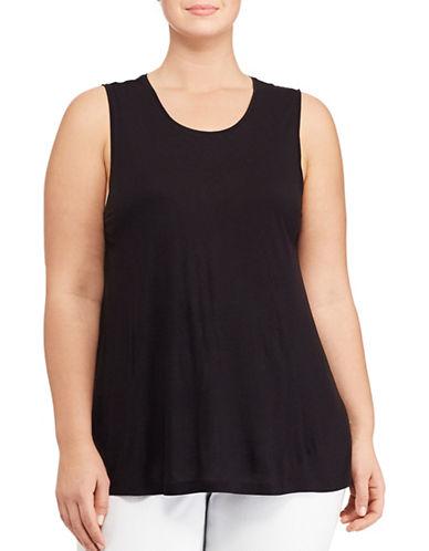 Lauren Ralph Lauren Plus Jersey Tank Top-BLACK-3X 89072177_BLACK_3X