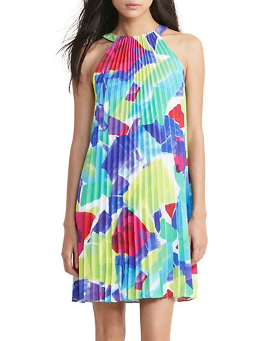Lauren Ralph Lauren Pleated A-Line Dress-MULTI-14