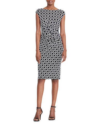 Lauren Ralph Lauren Geometric Printed Dress-MULTI-8