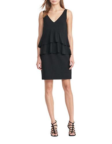 Lauren Ralph Lauren Georgette Tiered Dress-BLACK-14