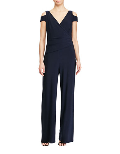Lauren Ralph Lauren Stretch-Jersey Jumpsuit-LIGHT NAVY-2