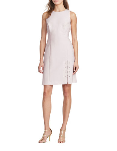Lauren Ralph Lauren Jouse Lace-Up Hem Dress-PINK-14