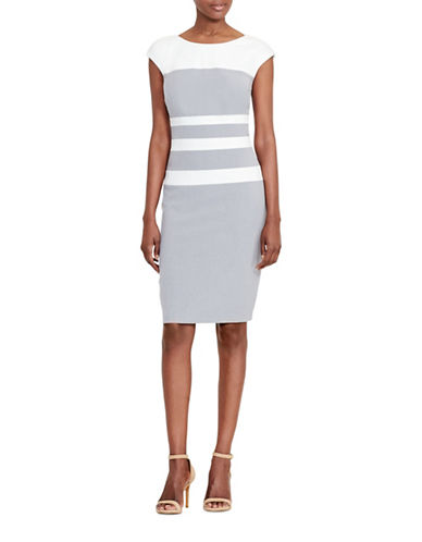 Lauren Ralph Lauren Alicia Colourblock Gabardine Dress-IVORY-2