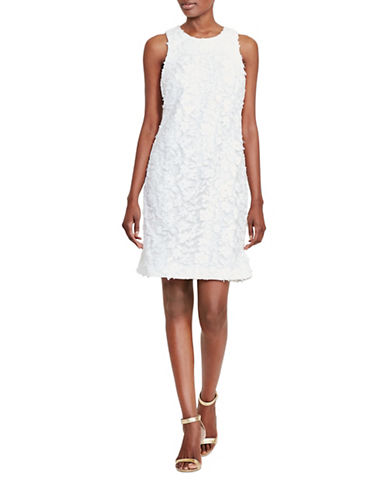 Lauren Ralph Lauren Floral Lace Sheath Dress-WHITE-4