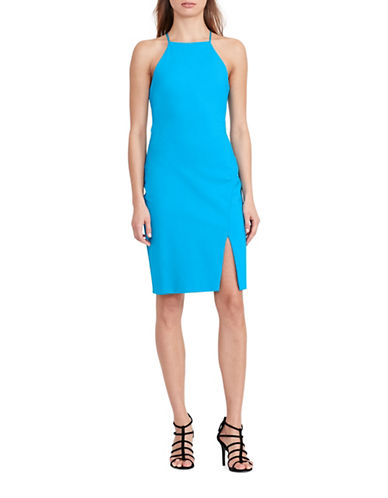 Lauren Ralph Lauren High-Neck Jersey Sheath Dress-BLUE-6
