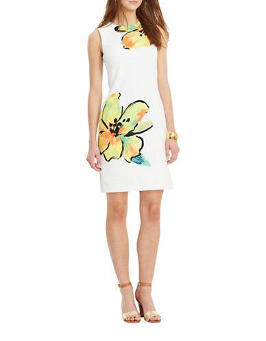 Lauren Ralph Lauren Floral-Print Sheath Dress-WHITE/YELLOW-14