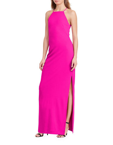 Lauren Ralph Lauren Cut-Out Back Sleeveless Gown-PINK-12