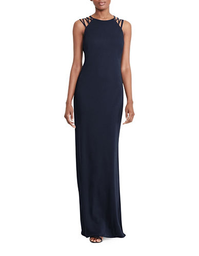 Lauren Ralph Lauren Strappy Column Gown-BLUE-2
