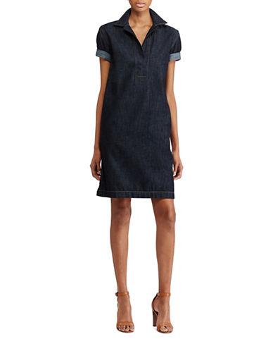 Lauren Ralph Lauren Denim Shift Dress-BLUE-Medium
