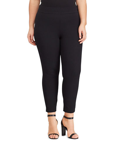 Lauren Ralph Lauren Plus Stretch Twill Pants-BLACK-16W 89103224_BLACK_16W