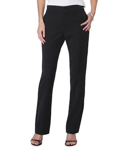 Chaps Plus Stretch-Twill Straight Pants-BLACK-18W 88992217_BLACK_18W