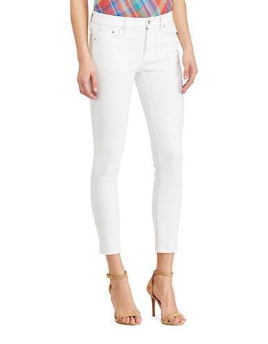 Lauren Ralph Lauren Premier Cropped Skinny Jeans-WHITE-14