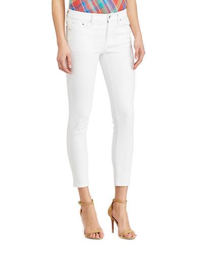 Lauren Ralph Lauren Plus Premier Skinny Ankle Jeans-WHITE-22W