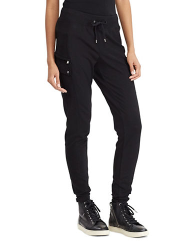 Lauren Ralph Lauren French Terry Cargo Pants-BLACK-Medium 89063153_BLACK_Medium