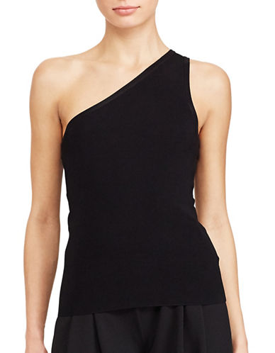 Lauren Ralph Lauren One-Shoulder Top-BLACK-X-Small 89063261_BLACK_X-Small