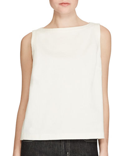 Lauren Ralph Lauren Cotton Jersey Tank Top-WHITE-Medium 89063594_WHITE_Medium