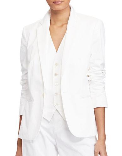 Polo Ralph Lauren Stretch Cotton Twill Blazer-WHITE-6