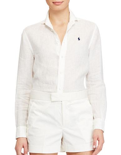 Polo Ralph Lauren Relaxed Fit Linen Shirt-WHITE-8