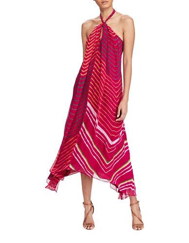 Polo Ralph Lauren Shibori-Dyed Silk Halter Dress-PINK-10