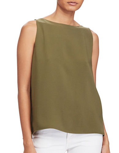 Polo Ralph Lauren Back-Slit Sleeveless Top-GREEN-4