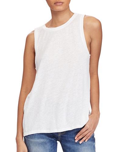 Polo Ralph Lauren Sleeveless Linen-Blend Top-WHITE-Medium 89169674_WHITE_Medium