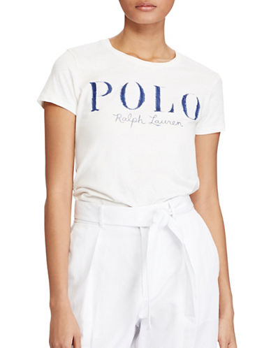 Polo Ralph Lauren Slim-Fit Cotton Tee-NATURAL-Small