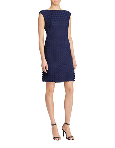 Lauren Ralph Lauren Geometric Square Lace Dress-LIGHTHOUSE NAVY-8