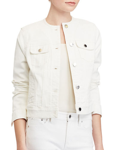 Lauren Ralph Lauren Carstina Denim Jacket-NATURAL-Small 89133864_NATURAL_Small