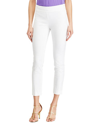 Lauren Ralph Lauren Cressida Stretch Twill Skinny Pants-WHITE-14